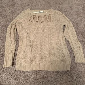 Lauren Conrad Women's Chunky Sweater with Lace